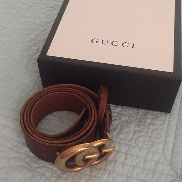 9f3e77f35 Gucci Accessories   Brand New Authentic Double Gg Belt   Poshmark